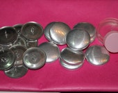 50 x  28mm (Size 45) Metal Self Cover Buttons (INCLUDES TOOL)  Flat back or Shank/Wire backs, DIY cover button -  Australia