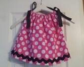 Pink and White Polka Dot Pillowcase Dress