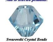 Additional Swarovski Crystal Beads to add to Birthstone Pendants