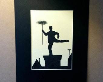 Disney Mary Poppins Chimney Sweep Silhouette