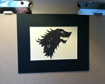 House of Stark Dire Wolf Sigil