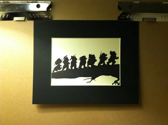 Snow White And The Seven Dwarfs Silhouette Disney Seven Dwarfs Silhouette