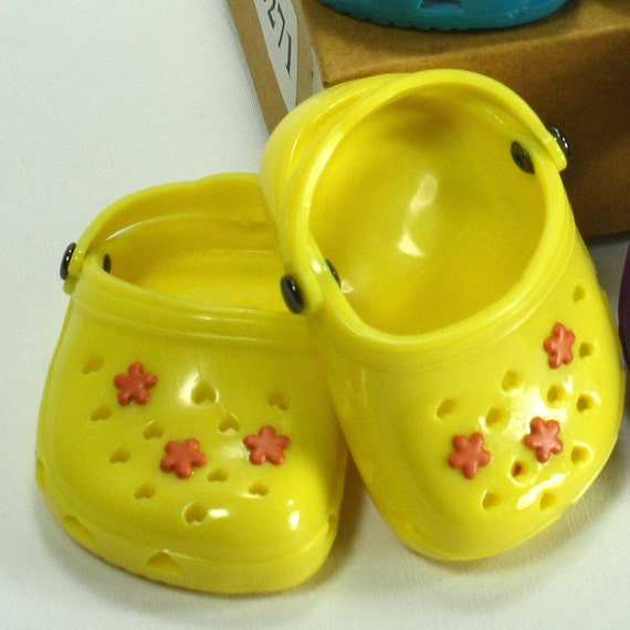 """Clogs Hand Embellished fits 18"""" Doll American Girl Doll"""