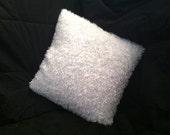 Soft, Fuzzy White Pillow Cover