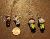 Character Earrings- Multiple pictures shown