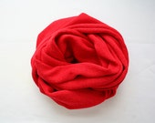 Red scarf, red knit infinity scarf, hot red scarf, loop circular eternity scarf, bold statement, chunky unisex scarves