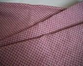 Shibori cotton fabric 2 yards medium weight mauve