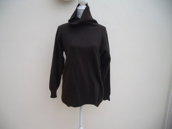 Vintage polo neck cashmere jumper sweater large Xlarge