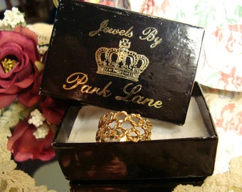Vintage Jewelry Park Lane Rope Open Net Design Ring with original box