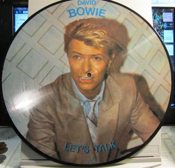 """Vintage Picture Disc David Bowie """"Let's Talk"""""""