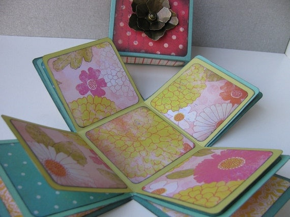 Reserved for Liz --May Flowers Explosion Photo Box , Trinket Box, Mother's Day Gift