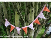 Pink and Orange Fabric Triangle Banners