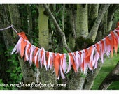Pink and Orange Fabric Fringe Banner