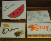 In Season - set of 8 Note Cards