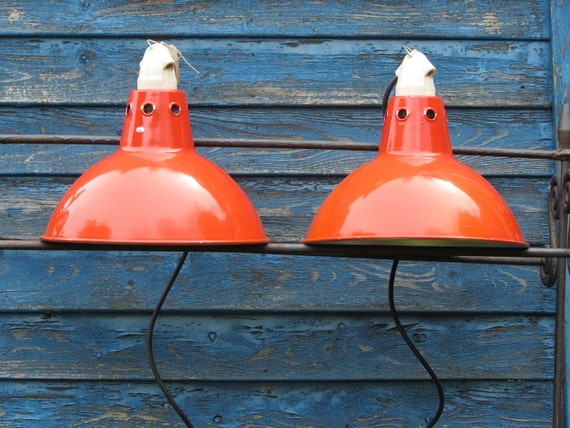 Vintage Industrial Metal Lamps with Ceramic lamp holder