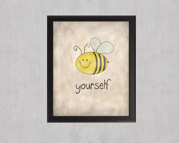Bee Yourself Photographic Print Cute Bee Sweet By Quotograph