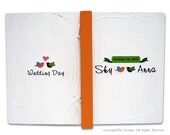 Personalized wooden wedding album, guest book, decoration