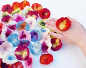 Delicate Spring blossoms to tinker colorful flowers decorate felt patch for shirts felted flower Application