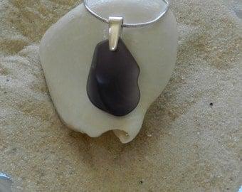Purple / Lavender Glass Pendant Necklace