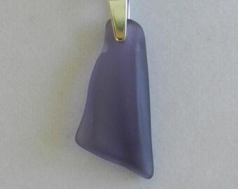 Purple Lavender Glass Pendant Necklace