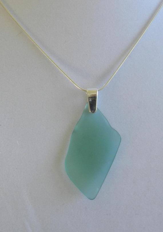 Blue Green Pendant Necklace