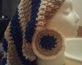 Crochet Rasta Tam W/ Matching Earrings