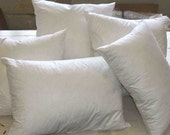 Pillow Forms, Pillow insert,  down feather all sizes available 1 - 5 units