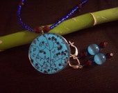 Beautiful Carolina Blue Necklace and Earrings Set