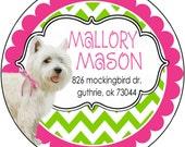 Puppy Love Round Return Address Labels, 1.67 inch or 2.5 inch round