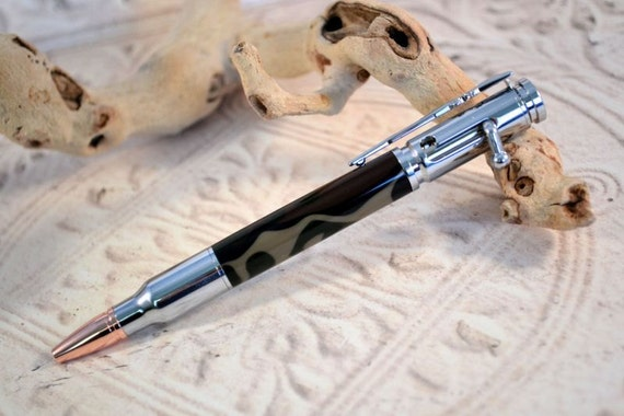 Bolt Action Camo Ballpoint Pen, Refillable Ballpoint Pen, Handmade Pen