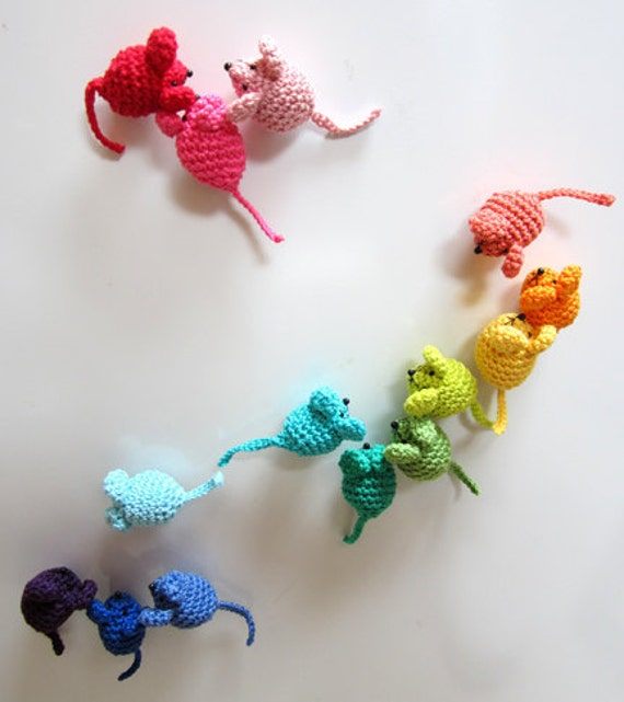 Mini Mice Crochet Pattern for Brooches Hair by PlanetPennyUK