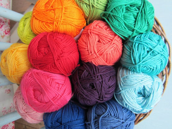 Planet Penny Cotton Club Yarn - Pack of 14 Rainbow Colours