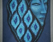 Reserved for dear Wendy - Blue Alhambra - Original acrylic painting