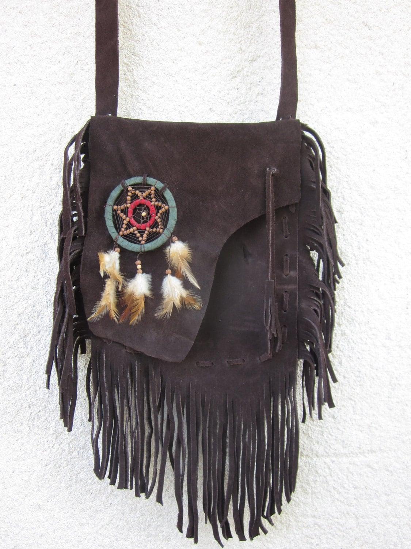 Tribal Fringed Leather Bag