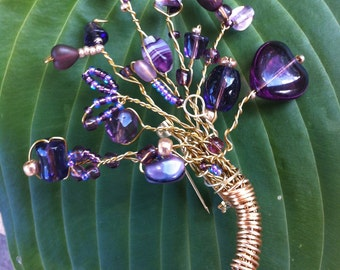 Purple Bouquet Brooch