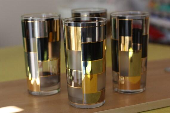 Culver Glassware - Cubec Pattern Highball Glasses