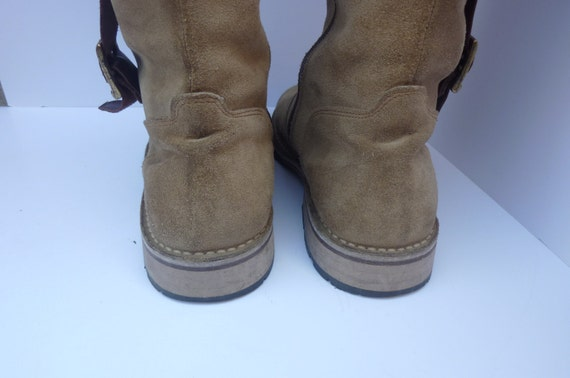 Reserved for Alaina Boots Suede Tall Side Zipper Made by Eureka Euro Size 38 USA Size 7