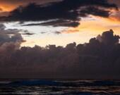 Great Sunrise storm photo on the beach