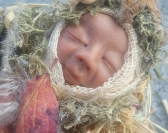 Sleeping Baby Fairy OOAK Skulpturen Fairy Art Doll