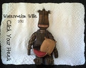 E Pattern WaterMelon Wille Black Primitive Doll Pattern