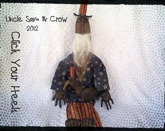 Uncle Sam & Ole Black Crow Primitive Doll Pattern