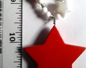 Big Colorful Red Stary Necklace