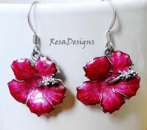 Hibiscus Blossom Earrings