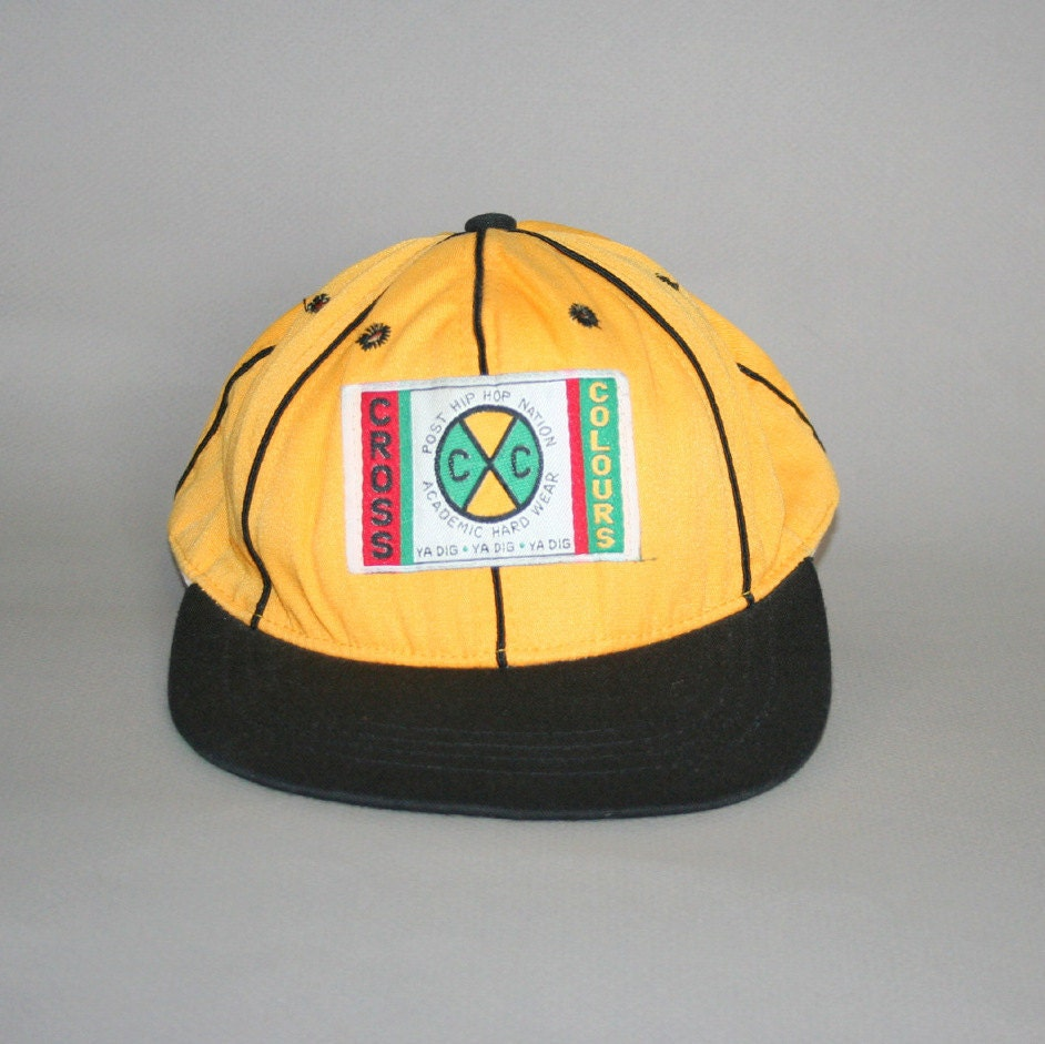Rare 90s Cross Colours Snapback Baseball Hat