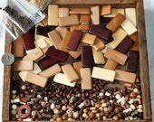 Destash Wooden Bead and Bamboo Tile Bead Large Lot