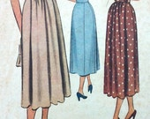1940s/1950s Vintage Skirt Sewing Pattern McCalls 7958 High-Waisted Skirt