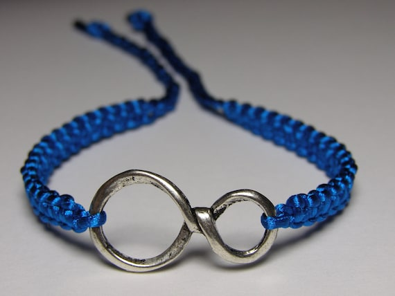 Infinity Bracelet with turquoise nylon thread NB se pic 2 for correct color