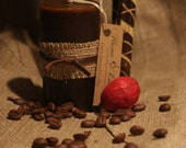 Handmade pillar candle with delicious aroma  of freshly brewed coffee.