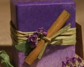 Lavender - Handmade palm wax pillar candle with very pleasant and sweet lavender aroma.