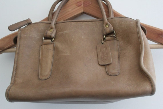 Tan Leather Coach Bag